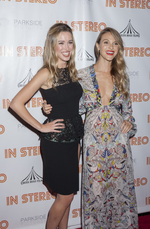 beau: New York, NY, USA - June 24, 2015:  Model Melissa Bolona and actress Beau Garrett attend the New York premiere of In Stereo at Tribeca Grand Hotel, Manhattan