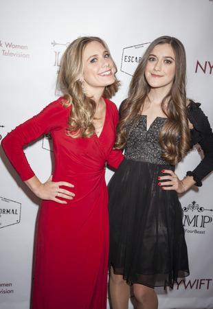 roberts: New York, NY, USA - March 4, 2016: Marlee Roberts(L) and Karlee Roberts attend the Little Miss Perfect New York special screening at DGA Theater, Manhattan.