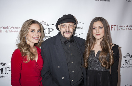 roberts: New York, NY, USA - March 4, 2016: (L-R) Marlee Roberts, Karl Bardosh and Karlee Roberts attend the Little Miss Perfect New York special screening at DGA Theater, Manhattan.