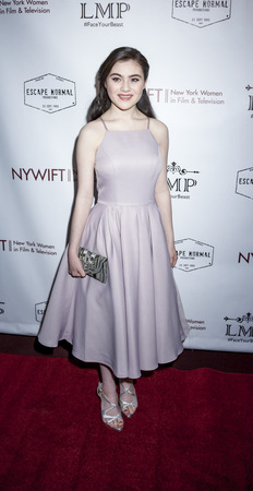 lilla: New York, NY, USA - March 4, 2016: Actress Lilla Crawford attends the Little Miss Perfect New York special screening at DGA Theater, Manhattan.