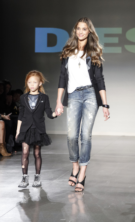 legend: New York, NY, USA - March 12, 2016: Eishia & Legend Brightwell walk the runway at petitePARADE  Kids Fashion Week New York at Spring Studios, Manhattan.