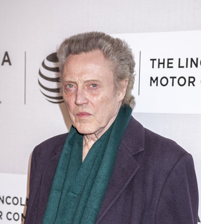 christopher: New York, NY, USA - April 16, 2016:Actor Christopher Walken attends The Family Fang Premiere during 2016 Tribeca Film Festival at John Zuccotti Theater at BMCC Tribeca Performing Arts Center Editorial