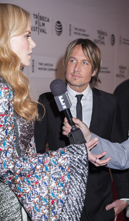 New York, NY, USA - April 16, 2016:Singer songwriter Keith Urban and actressproducer Nicole Kidman attend The Family Fang Premiere during 2016 Tribeca Film Festival at John Zuccotti Theater at BMCC Tribeca Performing Arts Center