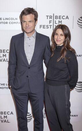 fang: New York, NY, USA - April 16, 2016: Actor Jason Bateman (L) and Amanda Anka attends The Family Fang Premiere during 2016 Tribeca Film Festival at John Zuccotti Theater at BMCC Tribeca Performing Arts Center