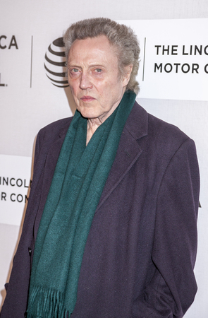 fang: New York, NY, USA - April 16, 2016:Actor Christopher Walken attends The Family Fang Premiere during 2016 Tribeca Film Festival at John Zuccotti Theater at BMCC Tribeca Performing Arts Center Editorial