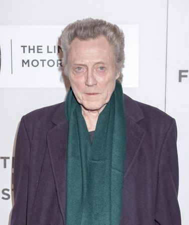 film festival: New York, NY, USA - April 16, 2016:Actor Christopher Walken attends The Family Fang Premiere during 2016 Tribeca Film Festival at John Zuccotti Theater at BMCC Tribeca Performing Arts Center Editorial