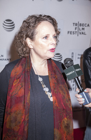 film festival: New York, NY, USA - April 16, 2016:Actress Maryann Plunkett attends The Family Fang Premiere during 2016 Tribeca Film Festival at John Zuccotti Theater at BMCC Tribeca Performing Arts Center Editorial
