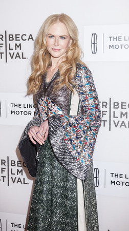 film festival: New York, NY, USA - April 16, 2016:Actressproducer Nicole Kidman attends The Family Fang Premiere during 2016 Tribeca Film Festival at John Zuccotti Theater at BMCC Tribeca Performing Arts Center Editorial