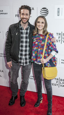 New York, NY, USA - April 15, 2016: Actors Paulo Costanzo and Rachel Leigh Cook attend the All We Had premiere during the 2016 Tribeca Film Festival at the John Zuccotti Theater at BMCC Tribeca Performing Arts Center