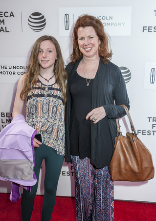 New York, NY, USA - April 15, 2016: Actress Siobhan Fallon Hogan and daughter attends the All We Had premiere during the 2016 Tribeca Film Festival at the John Zuccotti Theater at BMCC Tribeca Performing Arts Center