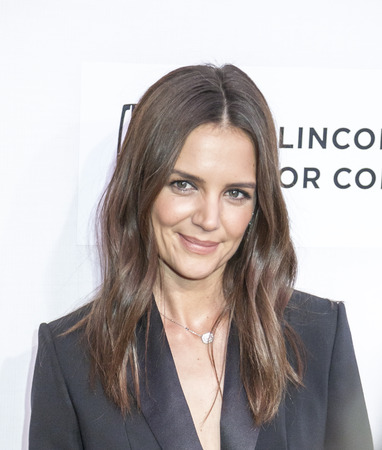 New York, NY, USA - April 15, 2016: Actress, director Katie Holmes attends the 'All We Had' premiere during the 2016 Tribeca Film Festival at the John Zuccotti Theater at BMCC Tribeca Performing Arts Center