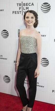 ニューヨーク、ニューヨーク、アメリカ合衆国 - 2016 年 4 月 15 日: 女優ステファニア LaVie オーウェンもうトライベッカ パフォーミング アーツ セン