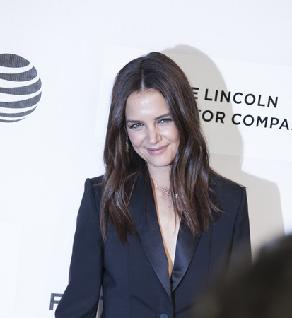film festival: New York, NY, USA - April 15, 2016: Actress, director Katie Holmes attends the All We Had premiere during the 2016 Tribeca Film Festival at the John Zuccotti Theater at BMCC Tribeca Performing Arts Center