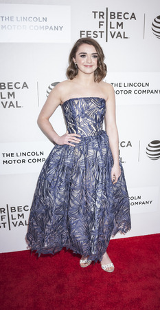 williams: New York, NY, USA - April 14, 2016: Actress Maisie Williams attends the The Devil And The Deep Blue Sea premiere during the 2016 Tribeca Film Festivalat at the John Zuccotti Theater at BMCC Tribeca Performing Arts Center