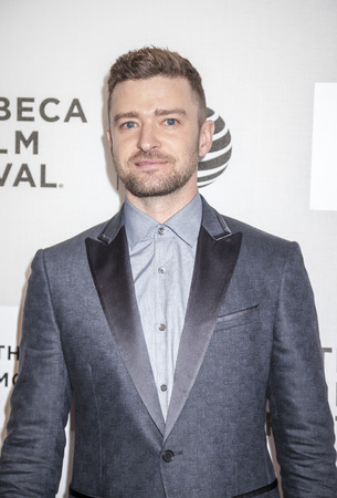 New York, NY, USA - April 14, 2016: Singer-songwriter Justin Timberlake attends the 'The Devil And The Deep Blue Sea' premiere during the 2016 Tribeca Film Festivalat at the John Zuccotti Theater at BMCC Tribeca Performing Arts Center Editorial