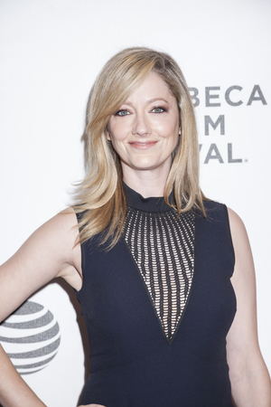 New York, NY, USA - April 18, 2016: Actress Judy Greer attends the 'Elvis & Nixon' premiere during the 2016 Tribeca Film Festival at the John Zuccotti Theater at BMCC Tribeca Performing Arts Center Редакционное