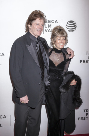 performing arts: New York, NY, USA - April 18, 2016: Jerry and Cindy Schilling attend the Elvis & Nixon premiere during the 2016 Tribeca Film Festival at the John Zuccotti Theater at BMCC Tribeca Performing Arts Center Editorial
