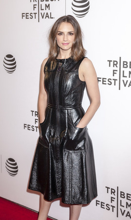 New York, NY, USA - April 18, 2016: Actress Rachael Leigh Cook attends the Elvis & Nixon premiere during the 2016 Tribeca Film Festival at the John Zuccotti Theater at BMCC Tribeca Performing Arts Center Editorial