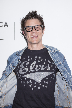 film festival: New York, NY, USA - April 18, 2016: Actor Johnny Knoxville attends the Elvis & Nixon premiere during the 2016 Tribeca Film Festival at the John Zuccotti Theater at BMCC Tribeca Performing Arts Center