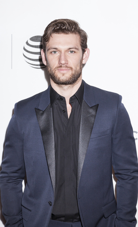 performing arts: New York, NY, USA - April 18, 2016: Actor Alex Pettyfer attends the Elvis & Nixon premiere during the 2016 Tribeca Film Festival at the John Zuccotti Theater at BMCC Tribeca Performing Arts Center