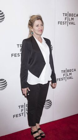 film festival: New York, NY, USA - April 18, 2016: Actress Edie Falco attends the Elvis & Nixon premiere during the 2016 Tribeca Film Festival at the John Zuccotti Theater at BMCC Tribeca Performing Arts Center
