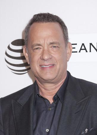 New York, NY, USA - April 22, 2016: Tom Hanks attends Tribeca Talks Storytellers: Tom Hanks with John Oliver during the 2016 Tribeca Film Festival at John Zuccotti Theater at BMCC Tribeca Performing Arts Center, NYC