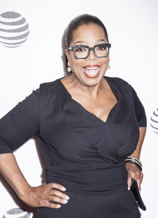 film festival: New York, NY, USA - April 20, 2016: Actress, producer Oprah Winfrey attends the Greenleaf premiere during the 2016 Tribeca Film Festival at the John Zuccotti Theater at BMCC Tribeca Performing Arts Center Editorial