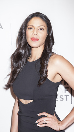 performing arts: New York, NY, USA - April 20, 2016: Actress Merle Dandridge attends the Greenleaf premiere during the 2016 Tribeca Film Festival at the John Zuccotti Theater at BMCC Tribeca Performing Arts Center Editorial
