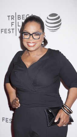 New York, NY, USA - April 20, 2016: Actress, producer Oprah Winfrey attends the Greenleaf premiere during the 2016 Tribeca Film Festival at the John Zuccotti Theater at BMCC Tribeca Performing Arts Center Editorial