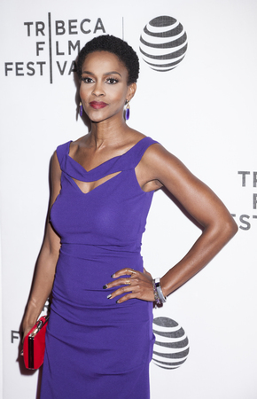 hawthorne: New York, NY, USA - April 20, 2016: Actress Kim Hawthorne attends the Greenleaf premiere during the 2016 Tribeca Film Festival at the John Zuccotti Theater at BMCC Tribeca Performing Arts Center