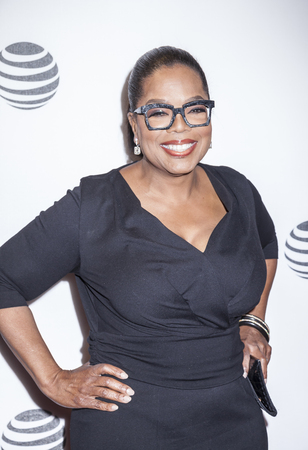 New York, NY, USA - April 20, 2016: Actress, producer Oprah Winfrey attends the Greenleaf premiere during the 2016 Tribeca Film Festival at the John Zuccotti Theater at BMCC Tribeca Performing Arts