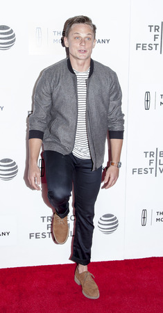 film festival: New York, NY, USA - April 19, 2016: Actor Billy Magnusson attends the The Meddler premiere during the 2016 Tribeca Film Festival at the John Zuccotti Theater at BMCC Tribeca Performing Arts Center, NYC