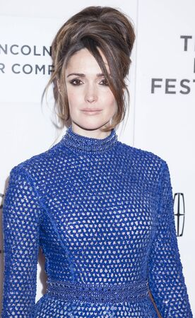 performing arts: New York, NY, USA - April 19, 2016: Actress Rose Byrne attends the The Meddler premiere during the 2016 Tribeca Film Festival at the John Zuccotti Theater at BMCC Tribeca Performing Arts Center, NYC