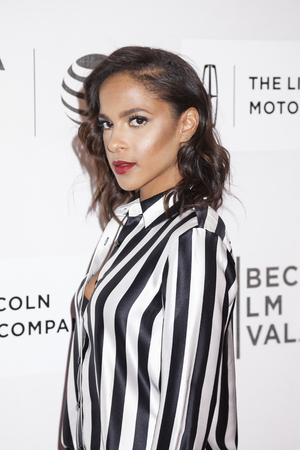 performing arts: New York, NY, USA - April 19, 2016: Actress Megalyn Echikunwoke attends the The Meddler premiere during the 2016 Tribeca Film Festival at the John Zuccotti Theater at BMCC Tribeca Performing Arts Center, NYC