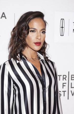New York, NY, USA - April 19, 2016: Actress Megalyn Echikunwoke attends the The Meddler premiere during the 2016 Tribeca Film Festival at the John Zuccotti Theater at BMCC Tribeca Performing Arts Center, NYC