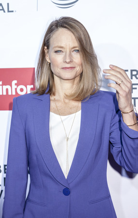 film festival: New York, NY, USA - April 21, 2016: Actress Jodie Foster attends the Taxi Driver 40th Anniversary Celebration during the 2016 Tribeca Film Festival at The Beacon Theatre, NYC Editorial