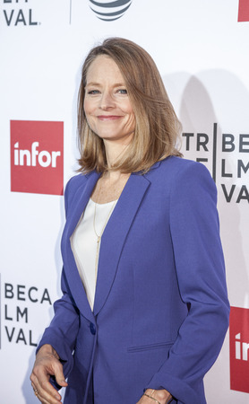 foster: New York, NY, USA - April 21, 2016: Actress Jodie Foster attends the Taxi Driver 40th Anniversary Celebration during the 2016 Tribeca Film Festival at The Beacon Theatre, NYC Editorial