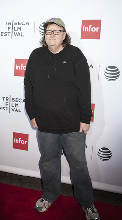 filmmaker: New York, NY, USA - April 21, 2016: Filmmaker Michael Moore attends the Taxi Driver 40th Anniversary Celebration during the 2016 Tribeca Film Festival at The Beacon Theatre, NYC