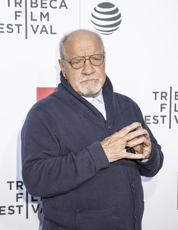 filmmaker: New York, NY, USA - April 21, 2016: Filmmaker Paul Schrader attends the Taxi Driver 40th Anniversary Celebration during the 2016 Tribeca Film Festival at The Beacon Theatre, NYC Editorial