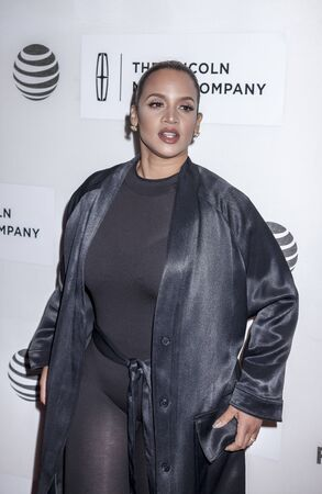 film festival: New York, NY, USA - April 20, 2016: Actress Dascha Polanco attends the A Hologram For The King premiere during the 2016 Tribeca Film Festival at the John Zuccotti Theater at BMCC Tribeca Performing Arts Center Editorial