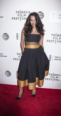 New York, NY, USA - April 20, 2016: Actress Sarita Choudhury attends the A Hologram For The King premiere during the 2016 Tribeca Film Festival at the John Zuccotti Theater at BMCC Tribeca Performing Arts Center Editorial