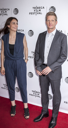 annie: New York, NY, USA - April 22, 2016: Actors Annie Parisse and Paul Sparks attends Tribeca Tune In: The Night Of Screening during 2016 Tribeca Film Festival at SVA Theatre, NYC Editorial