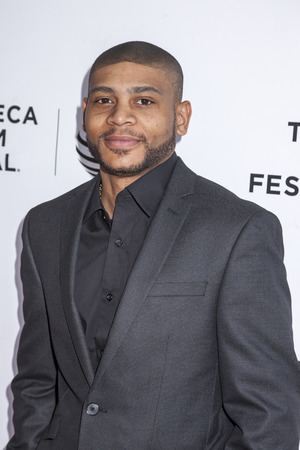 film festival: New York, NY, USA - April 22, 2016: Actor JJ. D. Williams attends Tribeca Tune In: The Night Of Screening during 2016 Tribeca Film Festival at SVA Theatre Editorial