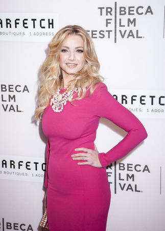 New York, NY, USA - April 13, 2016: Pianist and composer Marina Arsenijevic attends the 2016 Tribeca Film Festival opening night world premiere of The First Monday In May at John Zuccotti Theater at BMCC Tribeca Performing Arts Center Editorial