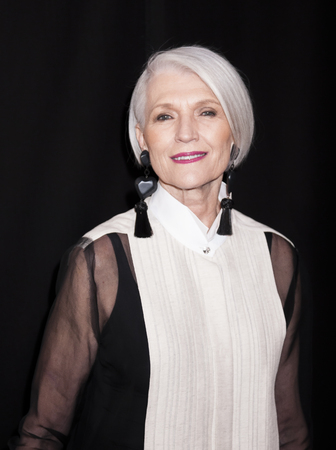 New York, NY, USA - April 13, 2016: Fashion Model Maye Musk attends the 2016 Tribeca Film Festival opening night world premiere of The First Monday In May at John Zuccotti Theater at BMCC Tribeca Performing Arts Center Editorial