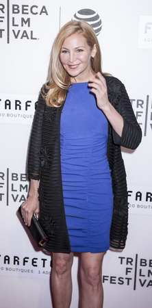 New York, NY, USA - April 13, 2016: Actress Jennifer Westfeldt attends the 2016 Tribeca Film Festival opening night world premiere of The First Monday In May at John Zuccotti Theater at BMCC Tribeca Performing Arts Center