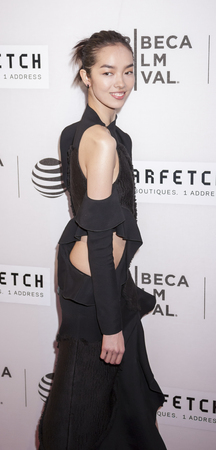 film festival: New York, NY, USA - April 13, 2016:  Fashion model Fei Fei Sun attends the 2016 Tribeca Film Festival opening night world premiere of The First Monday In May at John Zuccotti Theater at BMCC Tribeca Performing Arts Center