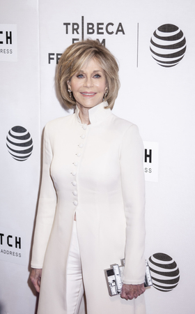 jane: New York, NY, USA - April 13, 2016: Actress Jane Fonda attends the 2016 Tribeca Film Festival opening night world premiere of The First Monday In May at John Zuccotti Theater at BMCC Tribeca Performing Arts Center