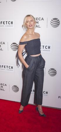 New York, NY, USA - April 13, 2016: Fashion Model Karolina Kurkova attends the 2016 Tribeca Film Festival opening night world premiere of The First Monday In May at John Zuccotti Theater at BMCC Tribeca Performing Arts Center
