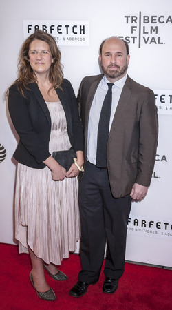 filmmaker: New York, NY, USA - April 13, 2016: Filmmaker Andrew Rossi (R) attends the 2016 Tribeca Film Festival opening night world premiere of The First Monday In May at John Zuccotti Theater at BMCC Tribeca Performing Arts Center